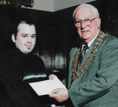 A.Silby Receives Award